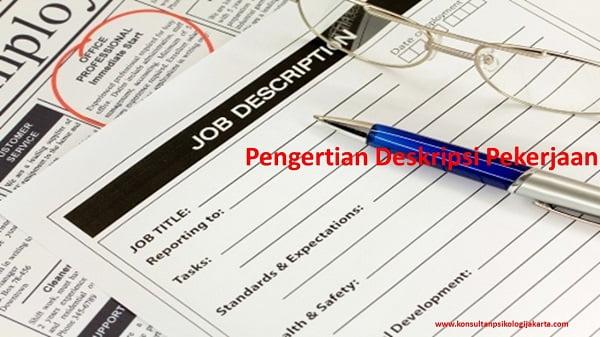 Pengertian Deskripsi Pekerjaan