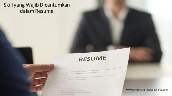 Skill yang Wajib Dicantumkan dalam Resume