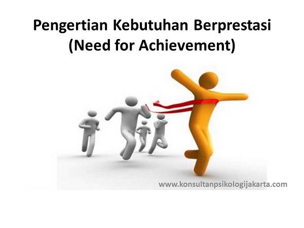 Pengertian Kebutuhan Berprestasi (Need for Achievement)