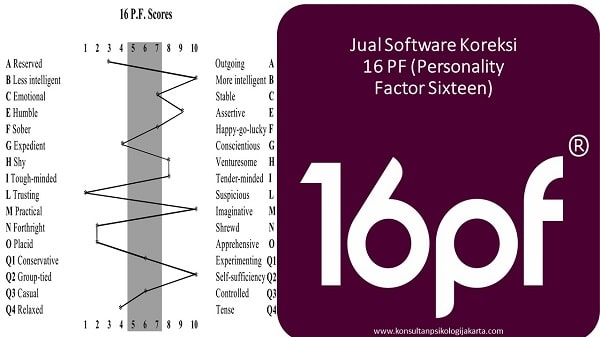Jual Software Koreksi 16 PF (Personality Factor