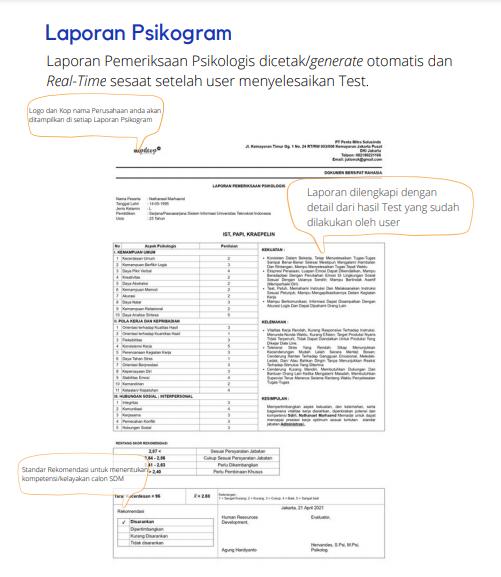 Contoh laporan pemeriksaan psikologis