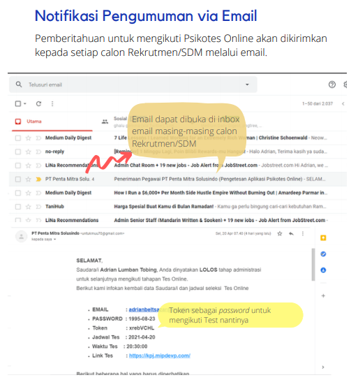 Notifikasi pengumuman via email