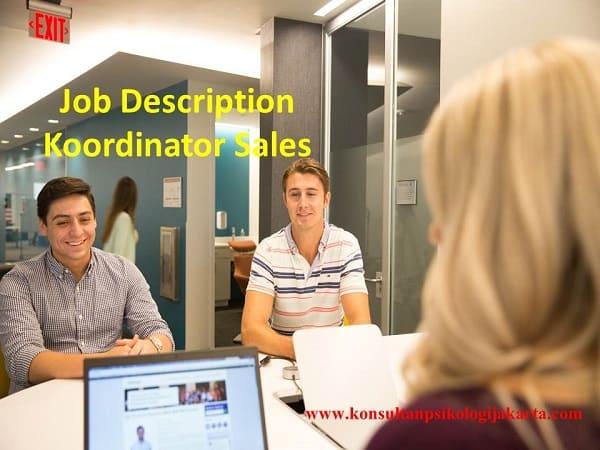 Job Description Koordinator Sales