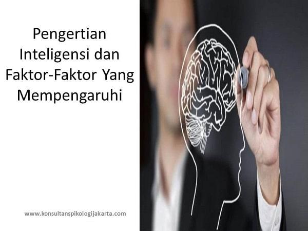 Pengertian Inteligensi dan Faktor-Faktor Yang Mempengaruhi